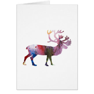Caribou art card