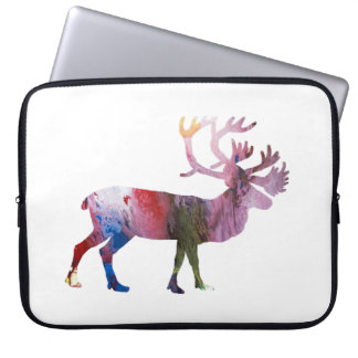 Caribou art laptop sleeve