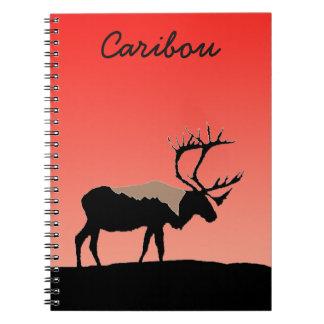 Caribou at Sunset Notebooks