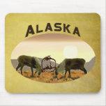 Caribou Duel - Alaska Mousepad