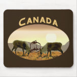 Caribou Duel - Canada Mouse Pads