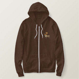 Caribou Embroidered Hooded Sweatshirts