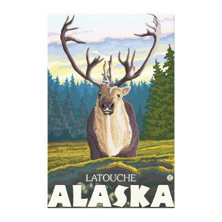 Caribou in the Wild - Latouche, Alaska Gallery Wrap Canvas