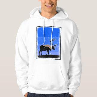 Caribou in Winter Hoodie