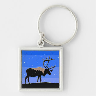 Caribou in Winter Key Ring