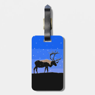 Caribou in Winter Luggage Tag