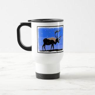Caribou in Winter Travel Mug