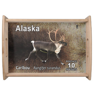 Caribou (Reindeer) - Alaska Postage Food Tray