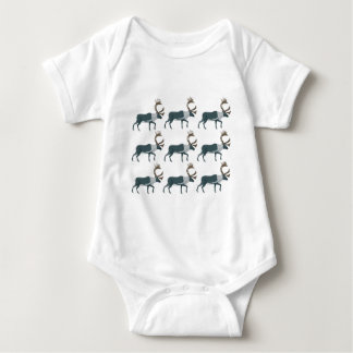 Caribou rows baby bodysuit