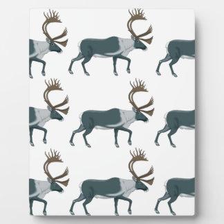 Caribou rows plaque