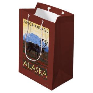 Caribou Scene - Anchorage, Alaska Medium Gift Bag