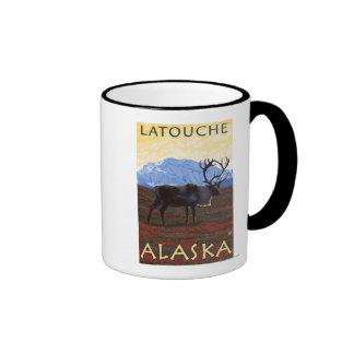 Caribou Scene - Latouche, Alaska Coffee Mug