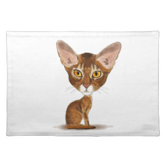 Caricature Abyssinian Placemat