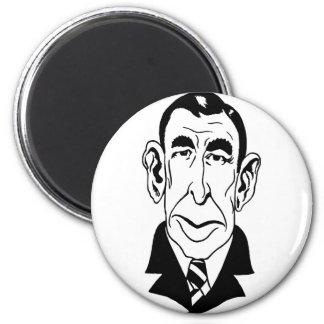 Caricature Booth Tarkington 6 Cm Round Magnet