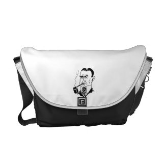 Caricature Charles Gates Dawes Commuter Bags