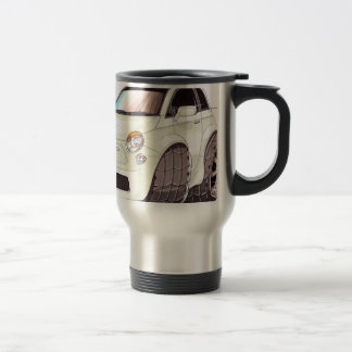 Caricature Fiat 500 way tuning! Travel Mug