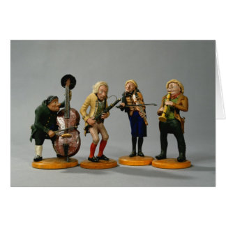 Caricature figurines of musicians card