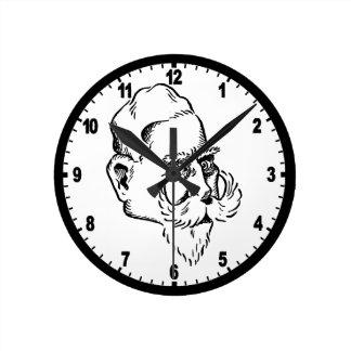 Caricature Kaiser Wilhelm Round Clocks
