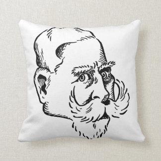 Caricature Kaiser Wilhelm Throw Cushion