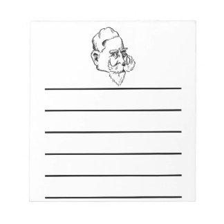 Caricature Kaiser Wilhelm Memo Notepad