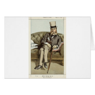 Caricature of George Whyte Melville James Tissot Card
