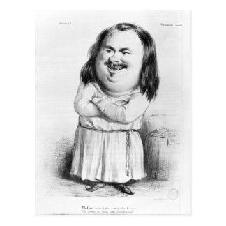 Caricature of Honore de Balzac Postcard
