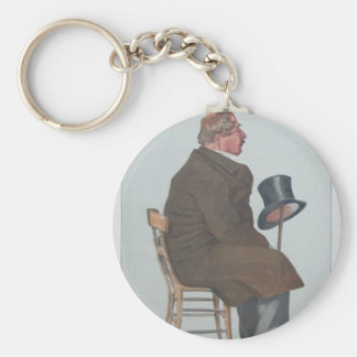 Caricature of Percy William Doyle C.B. by James Basic Round Button Key Ring