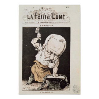 Caricature of Victor Hugo Poster
