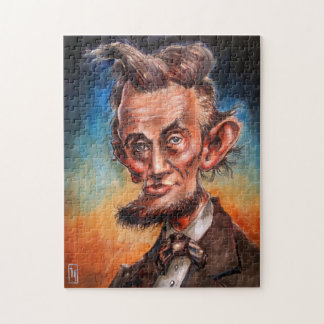 Caricature Puzzle: President Abraham Lincoln Jigsaw Puzzle