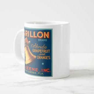Carillon Brand Citrus VIntage Crate Label Jumbo Mug