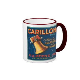 Carillon Brand Citrus VIntage Crate Label Coffee Mugs