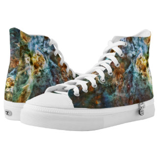 Carina Nebula Alter, Planets Collide Hightop ZIPZ Printed Shoes