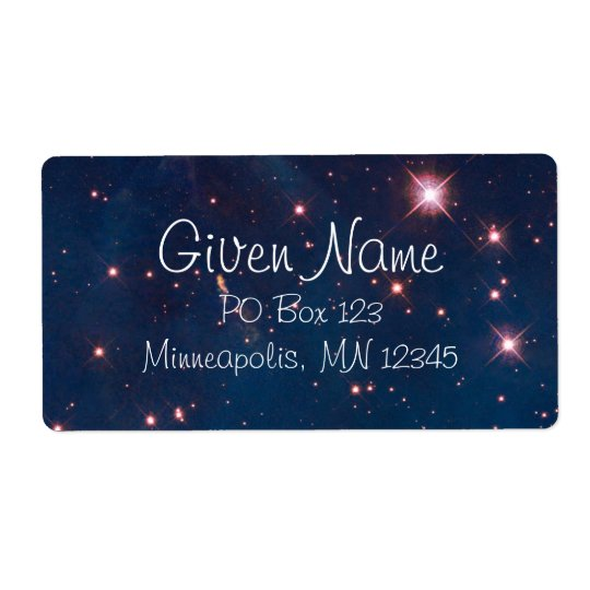 Carina Nebula Avery Label Shipping Label