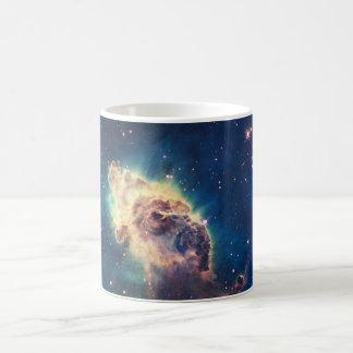 Carina Nebula from Hubble's Wide Field Camera Basic White Mug