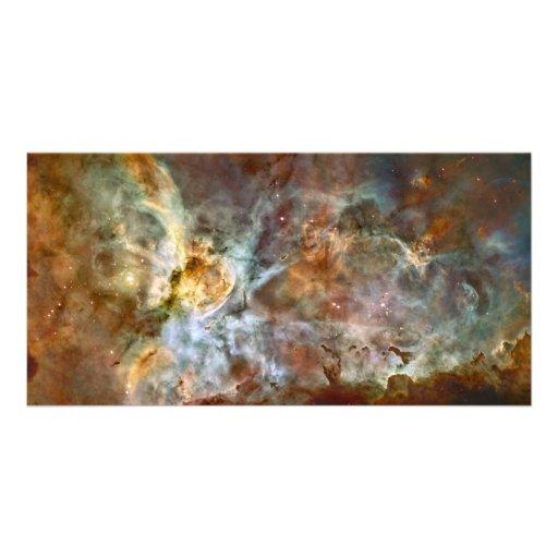 Carina Nebula Hubble Space Photo Card