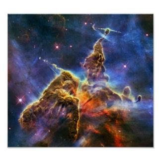 Carina Nebula Hubble Telescope Poster