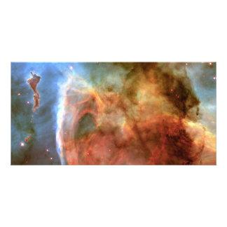 Carina Nebula Keyhole Detail Space Photo Card Template