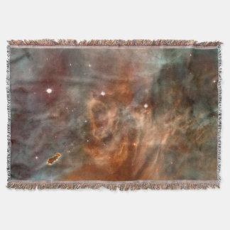 Carina Nebula Marble Look NASA Throw Blanket