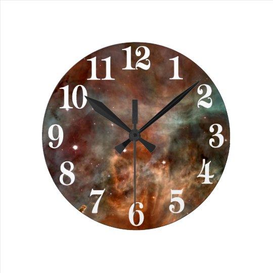 Carina Nebula Marble Look NASA Wall Clock
