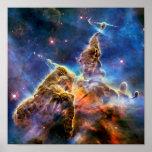 Carina Nebula Mystic Mountain Detail Print