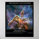 Carina Nebula Mystic Mountain poster
