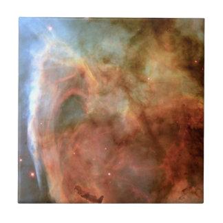 Carina Nebula Shadow and Light Small Square Tile