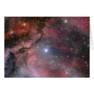 Carina Nebula, Wolf–Rayet star WR 22 Card