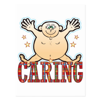 Caring Fat Man Postcard