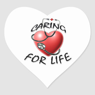 Caring for life heart sticker