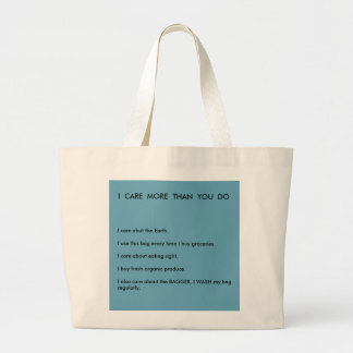 caring for the earth large tote bag