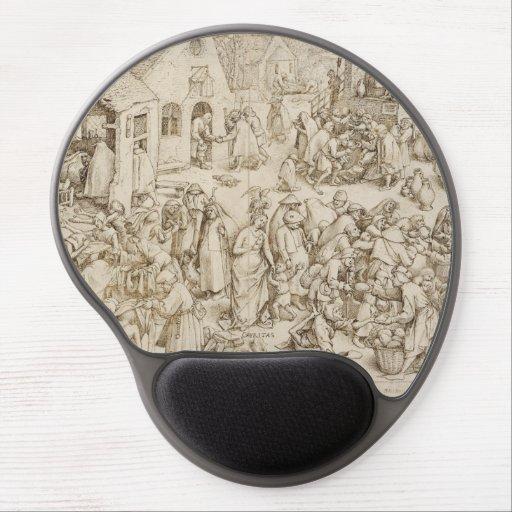 Caritas (Charity) by Pieter Bruegel the Elder Gel Mouse Mats