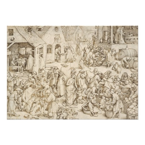 Caritas (Charity) by Pieter Bruegel the Elder Personalized Invitation