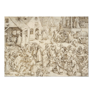 Caritas (Charity) by Pieter Bruegel the Elder Personalized Invitation
