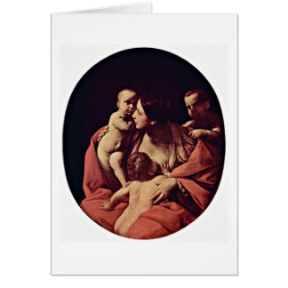 Caritas Oval By Guido Reni Card